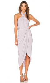 Shona Joy Knot Draped Dress in Lilac at Revolve