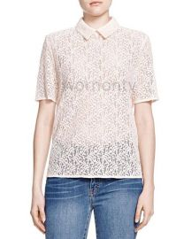 Short Sleeve Lace Top by The Kooples at The Kooples