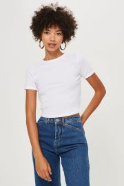 Short Sleeve Scallop T-Shirt at Topshop