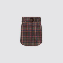 Short Checked Skirt with Belt by Sandro at Sandro