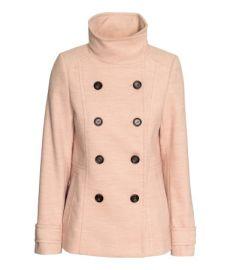 Short Coat in Powder Pink at H&M