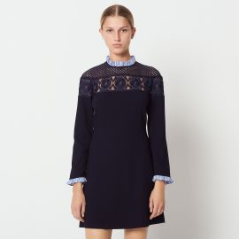 Short Dress with High Neck by Sandro at Sandro