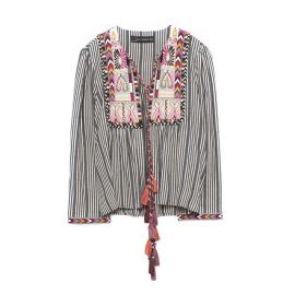 Short Embroidered Jacket at Zara