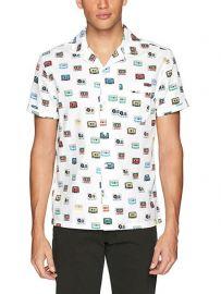 Short Sleeve Cassette Print Shirt by Original Penguin at Amazon