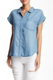 Short Sleeve Chambray Button Down at Nordstrom Rack