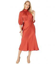 Short Sleeve Satin Tie Dress at Zappos