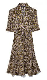 Short Sleeve Scarf Neck Dress in Yellow Multi by Derek Lam at Hampden