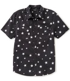 Short-Sleeve Western Star Print Shirt by Guess at Dillards