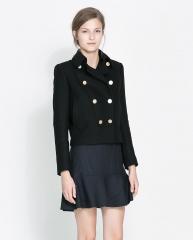 Short double breasted coat at Zara