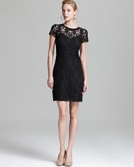 Short sleeve lace dress by Rebecca Taylor at Bloomingdales