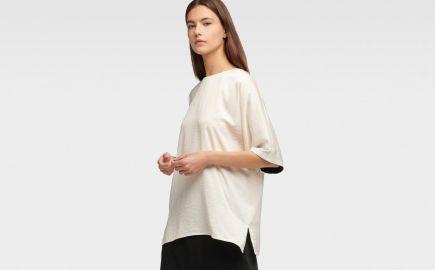 Short sleeve tunic at DKNY