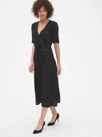 Short sleeve wrap dress at Gap