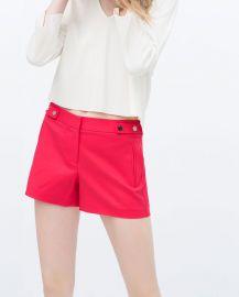 Shorts With Press-Stud Waist at Zara