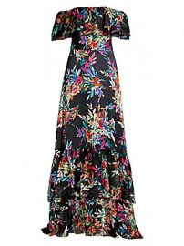 Shoshanna - Asilah Floral Off-the-Shoulder Gown at Saks Fifth Avenue
