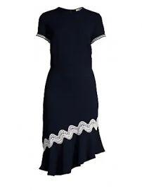 Shoshanna - Dinan Crochet-Trim Dress at Saks Fifth Avenue