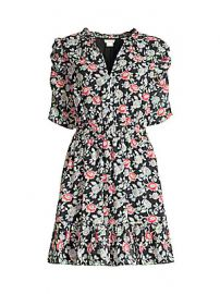 Shoshanna - Jodelle Floral Puff-Sleeve Dress at Saks Fifth Avenue