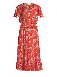 Shoshanna - Mercerie Floral Silk Dress at Saks Fifth Avenue