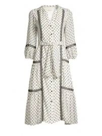 Shoshanna - Sandrelli Printed Button-Front Dress at Saks Fifth Avenue