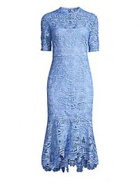 Shoshanna - Vitti Lace Flounce Hem Dress at Saks Fifth Avenue