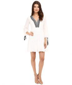 Shoshanna Divya Dress White Jet at 6pm