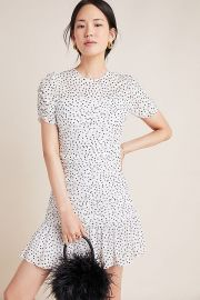 Shoshanna Kayleigh Textured Mini Dress at Anthropologie
