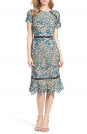 Shoshanna Octavia Lace Midi Dress at Nordstrom