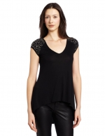 Shoulder stud tee by BCBGMAXAZRIA at Amazon