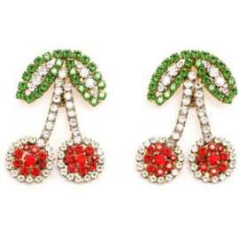 Shourouk Cherry Earrings at Farfetch