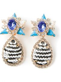 Shourouk and39galaxyand39 Clip-on Earrings - Elite at Farfetch