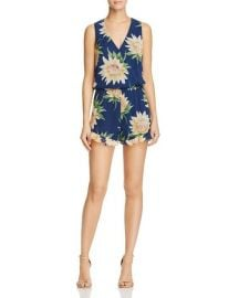 Show Me Your MuMu Lotus Print Riri Romper at Bloomingdales