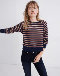 Shrunken Sweatshirt in Vicky Stripe at Madewell