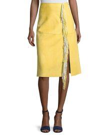 Side-Slit Fringe Suede Skirt by Diane von Furstenberg at Bergdorf Goodman