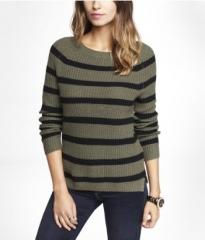 Side Slit Shaker Knit Sweater at Express
