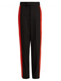 Side-stripe wool-twill trousers at Matches