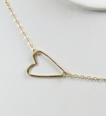 Sideways heart necklace at Etsy at Etsy