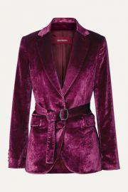 Sies Marjan - Terry belted crushed-velvet blazer at Net A Porter
