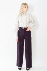 Sies Marjan Anouk Pinstripe Belted Pant at Grethen House