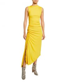 Sies Marjan Jersey Side-Ruched Dress at Neiman Marcus