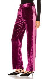 Sies Marjan Sonya Liquid Velvet Slim Pant in Raspberry   FWRD at Forward
