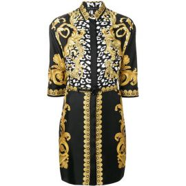 Signature Print Shirt Dress by Versace at Farfetch