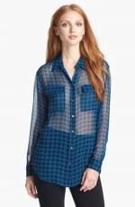 Signature shirt in houndstooth by Equipment at Nordstrom