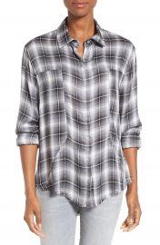 Signorelli Plaid Frayed Hem Shirt at Nordstrom