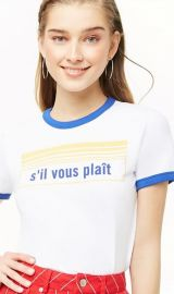 Sil Vous Plait Print Tee by Forever 21 at Forever 21