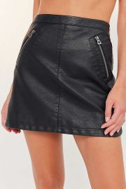 Silence   Noise Faux Leather Biker Mini Skirt at Urban Outfitters