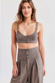Silence + Noise Eloise Menswear Bustier Top at Urban Outiftters