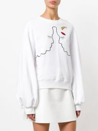 Silhouette Embroidered Sweatshirt by Vivetta at Farfetch