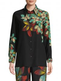 Silk Floral Blouse at Saks Fifth Avenue