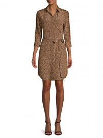 Silk Stella Cheetah Shirtdress at Saks Fifth Avenue
