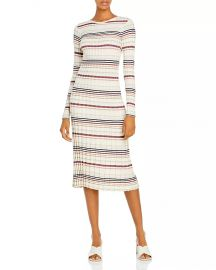 Silk & Cashmere Striped Bodycon Dress at Bloomingdales