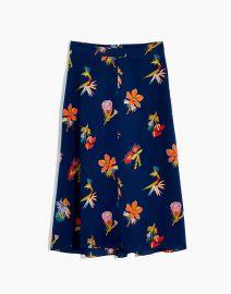 Silk Atrium Midi Skirt in Bird of Paradise at Madewell